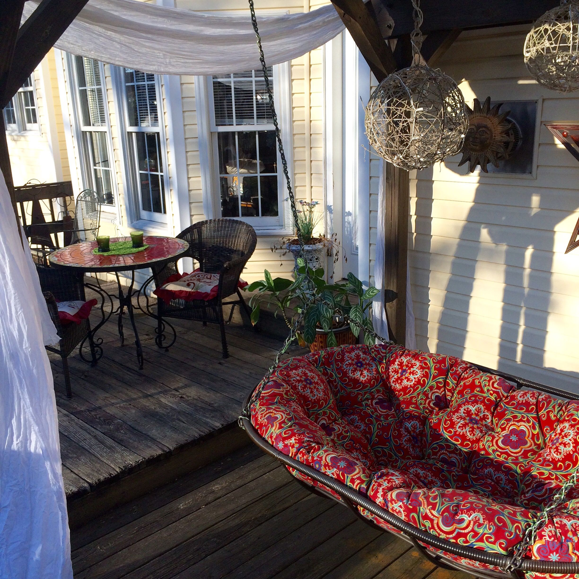 Pier1lovecontest Hanging Outdoor Double Papasan The Best Daybed