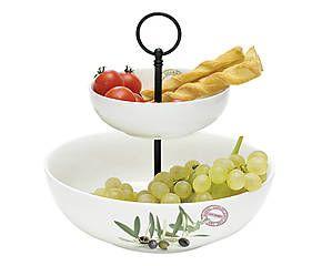 Alzata porta frutta in porcellana Olive Fragrances - max d 24 cm