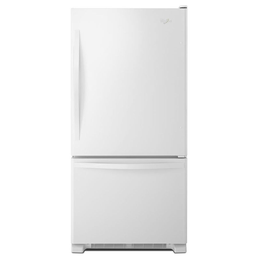Whirlpool 22 07 Cu Ft Bottom Freezer Refrigerator With Single Ice