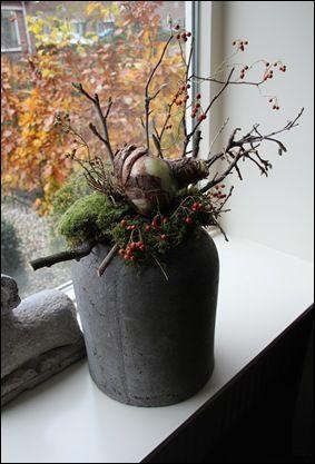 prachtige pot met takken, mos en een grote amaryllisbol - dinie klein hazebroek - #amaryllisbol #dinie #een #en #Grote #hazebroek #Klein #met #mos #pot #Prachtige #Takken #bodenvasedekorieren