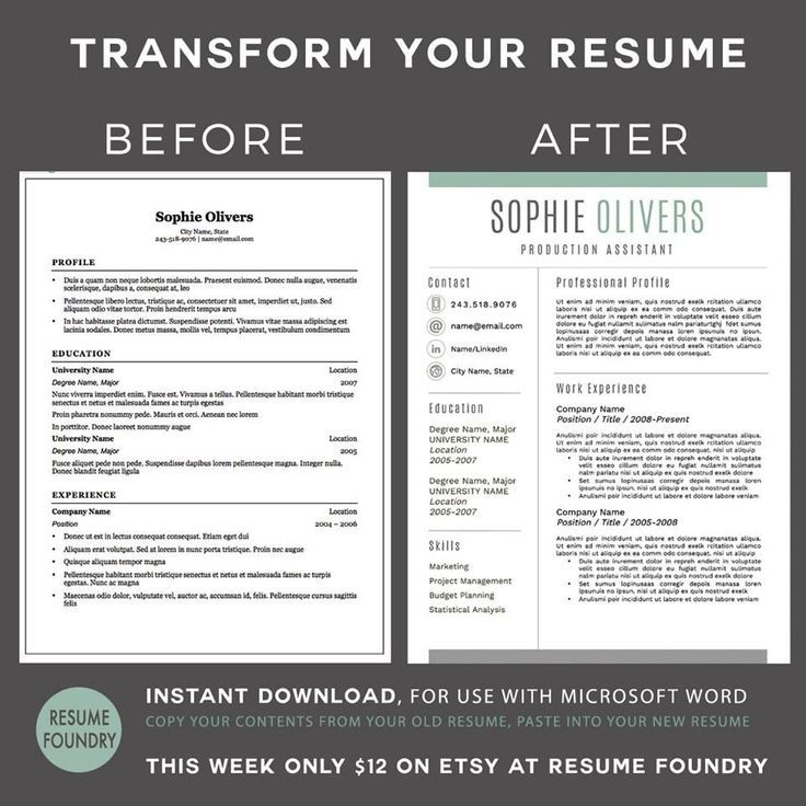Resume Templates Copy And Paste Transform Your Old Resume Into A Modern Versionvery Simple Just