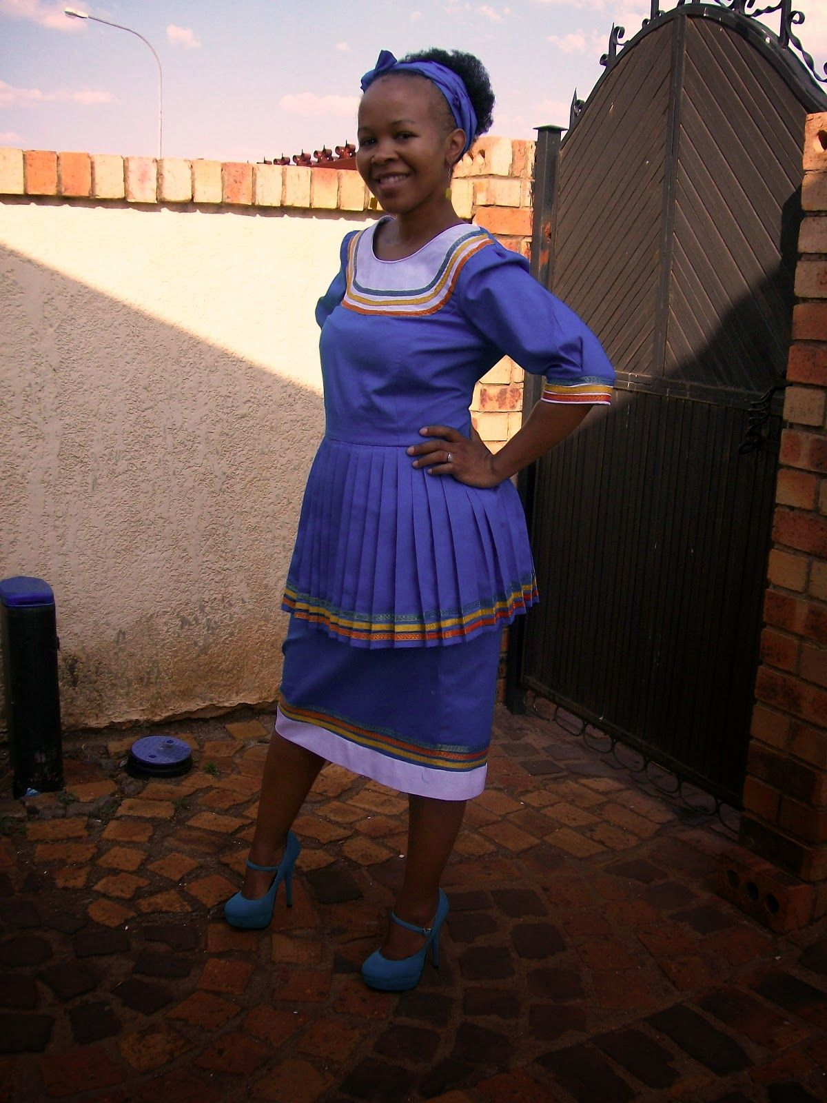 sepedi traditional african attire dresses chic lady pinterest