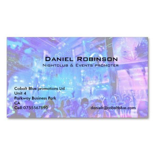 Nightclub Events Promoter Business Card Bizcardstudio Co Uk Dj Business Cards Customizable Business Cards Event Marketing