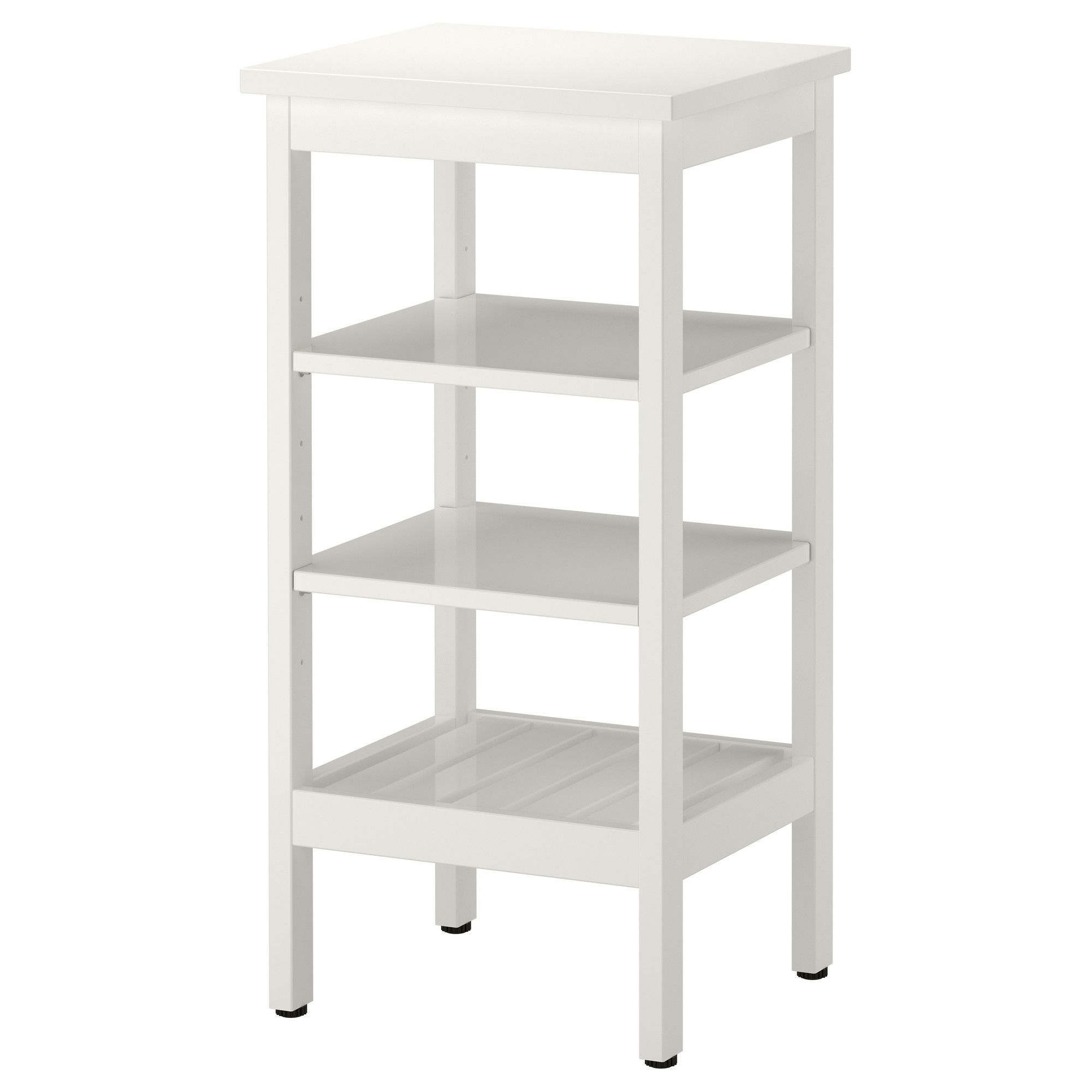 Printer Stand with paper storage below. HEMNES Shelving unit ...