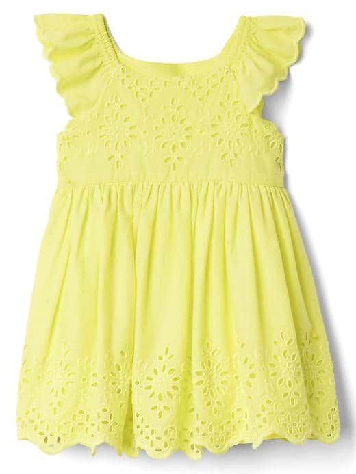 ec356efab0b27 Cute bright yellow spring or summer dress for baby girl | all about ...