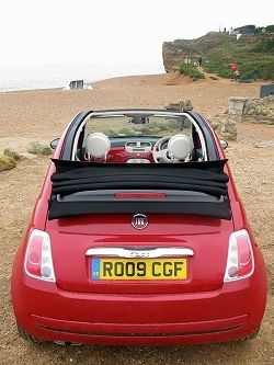 Fiat 500 Convertible Even Cuter With A White Roof With Images