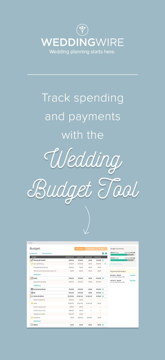 Easily stay within your budget using our free wedding budget - wedding budget calculators