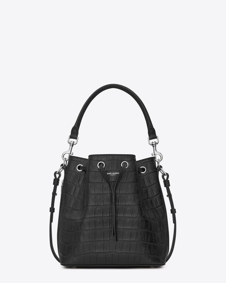 dfa52538f05 SIGNATURE SAINT LAURENT BUCKET BAG WITH REMOVABLE TUBULAR HANDLE, REMOVABLE  AND ADJUSTABLE SHOULDER STRAP.