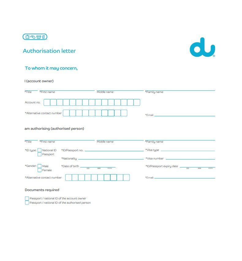 Authorization Letter Sample Printable Formats For Disconnection