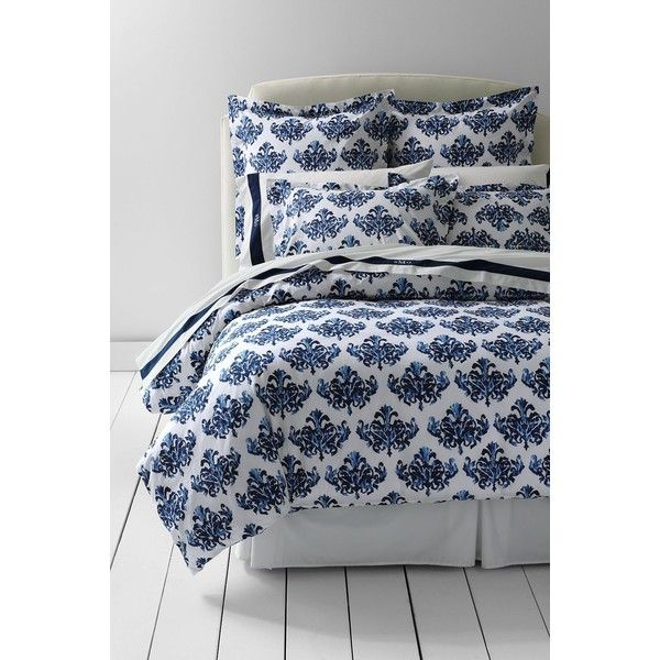 Lands End Egyptian Cotton Print Duvet 219 Liked On Polyvore