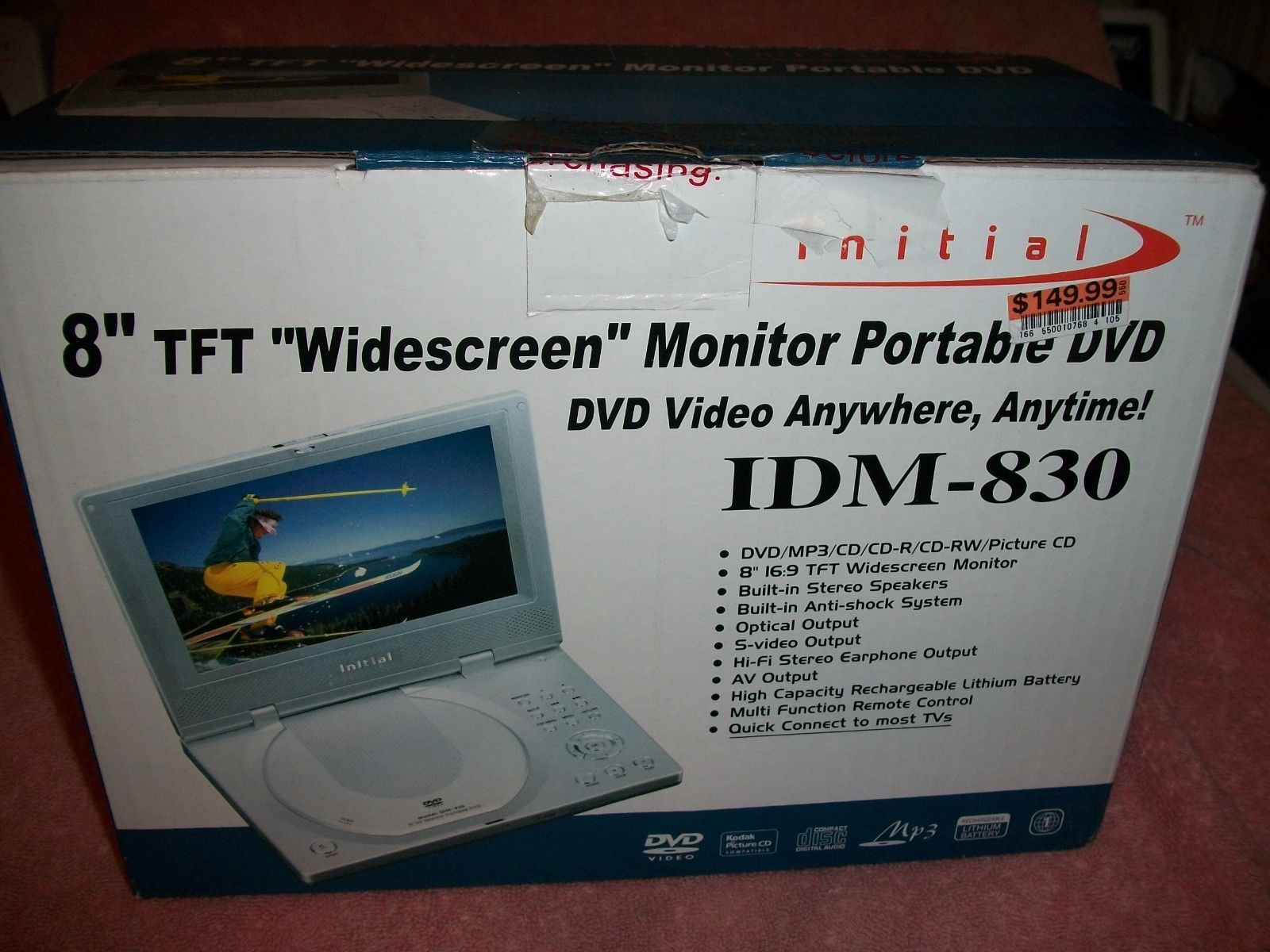 manuals and resources initial 8in tft widescreen monitor portable rh pinterest com Initial DVD Player Battery Initial DVD Player Battery