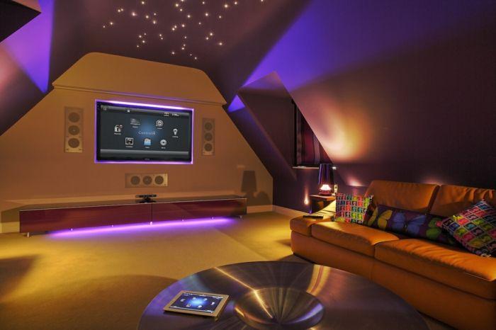 Indirekte Beleuchtung Decke Dunkeles Interior Leuchte Wandbeleuchtung  Stimmung