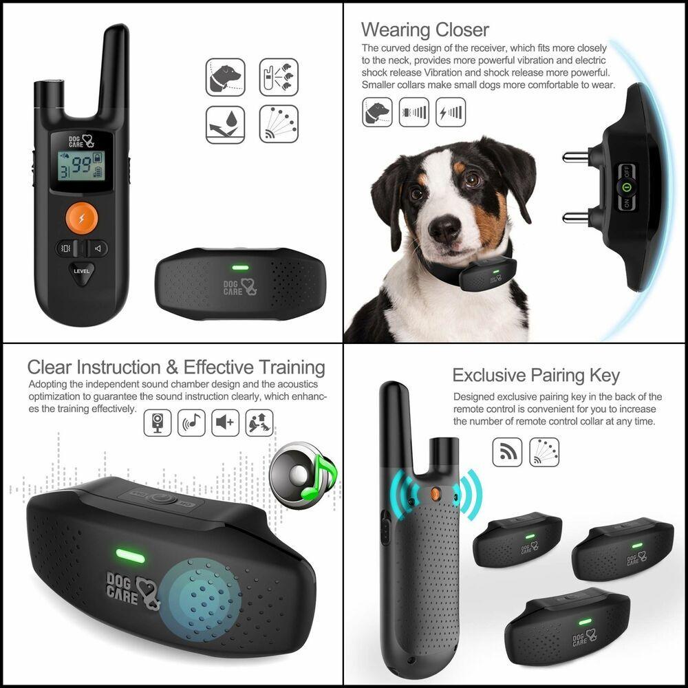 PAWOAH Remote Dog Training Collar Waterproof Receiver Dog