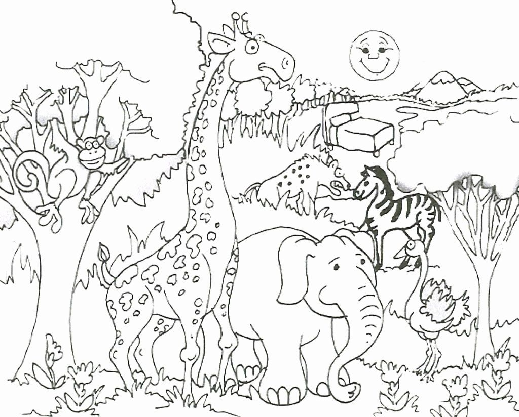 Baby Jungle Animals Coloring Pages Viewing Gallery Giraffe Coloring Pages Zoo Animal Coloring Pages Animal Coloring Books