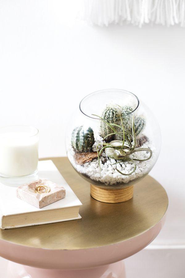 DIY mid century terrarium idea | easy crafts | just use vinyl, a jar ...
