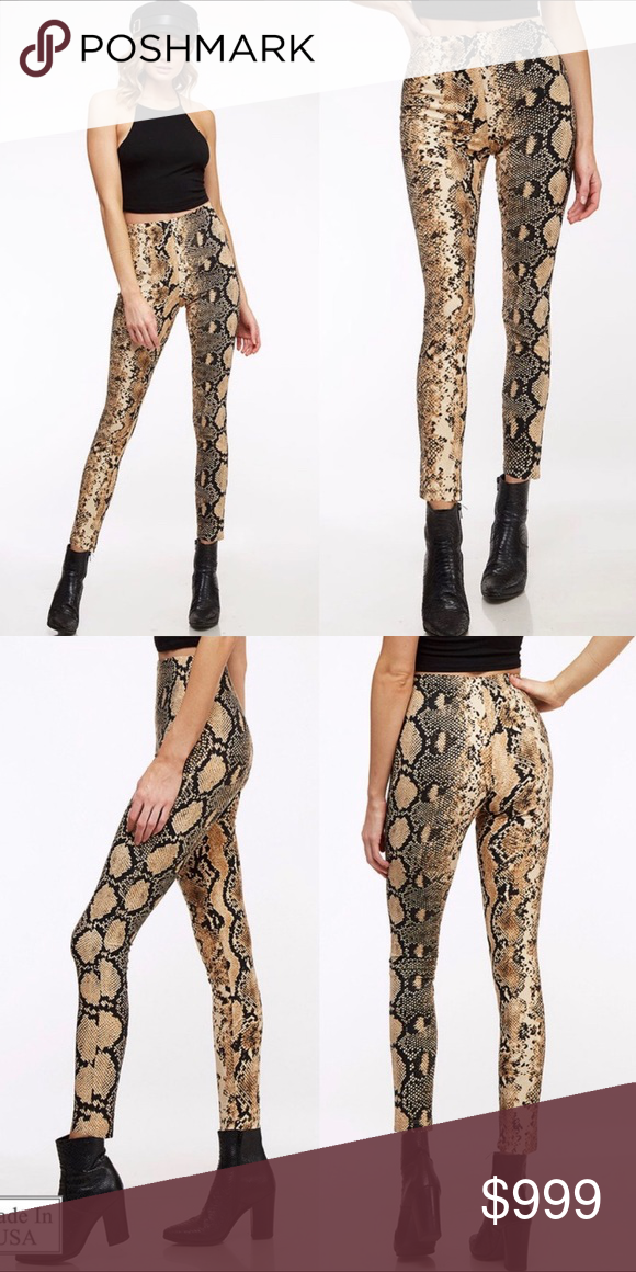 dfebeeafa8ad28 Snake skin print pants These are on trend and going to be even more popular  this summer. high quality, super flattering high waisted and chic! 95%  polyester ...