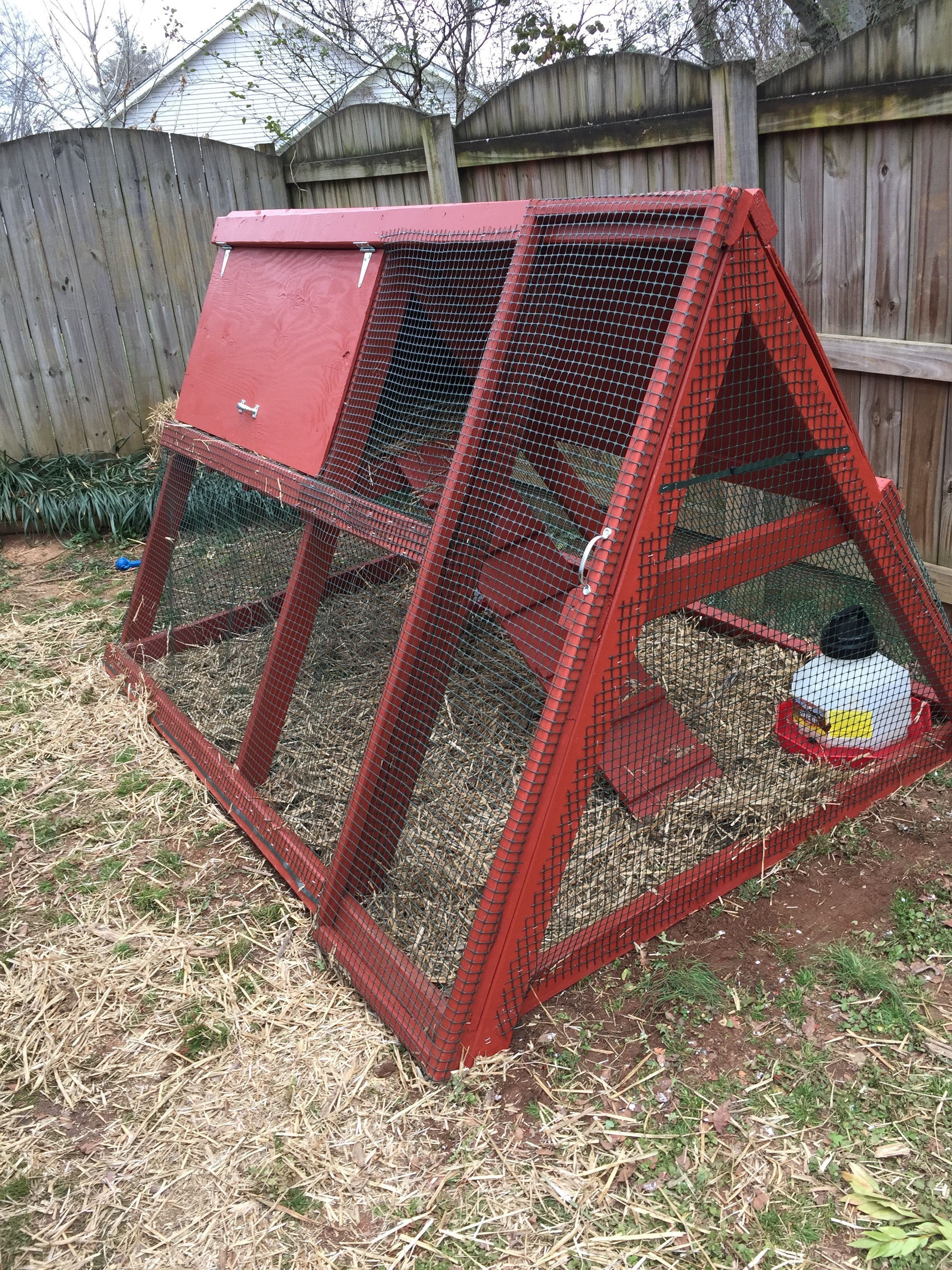 A Frame chicken coop! | Do It Yourself Home Projects from Ana White #chickencoopdiy