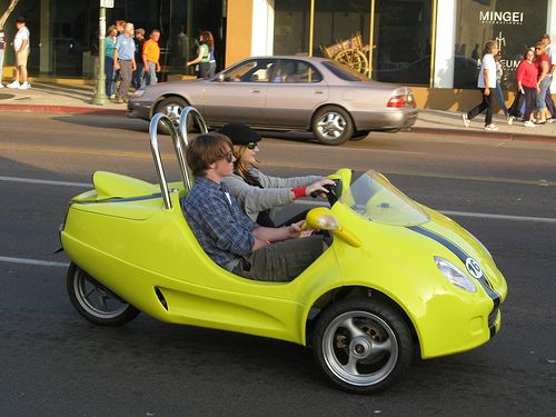 The Scoot Coupe is manufactured in Florida by Panther Motors