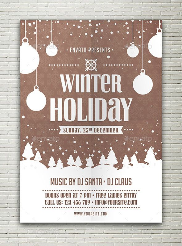 Winter Holiday Flyer Holiday Flyer Template Christmas Poster Design Holiday Flyer