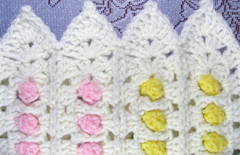 PDF Pattern Crocheted Baby Afghan CANDY BUTTONS Baby Afghan ...