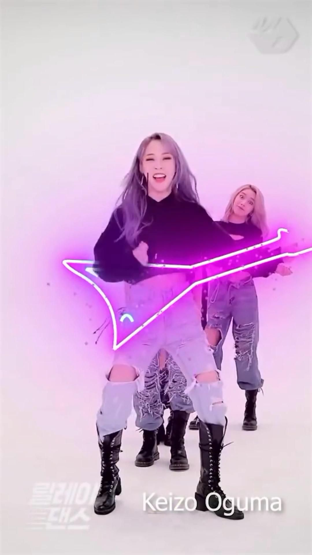 Mamamoo Hip relay dance Animation