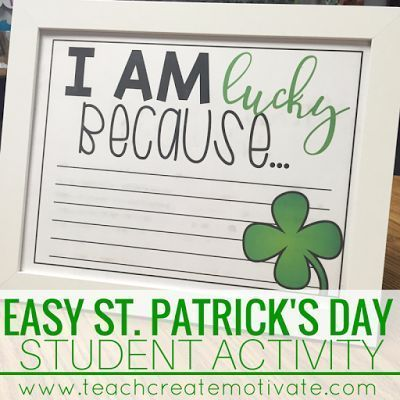 FREE St. Patrick's Day student activity!
