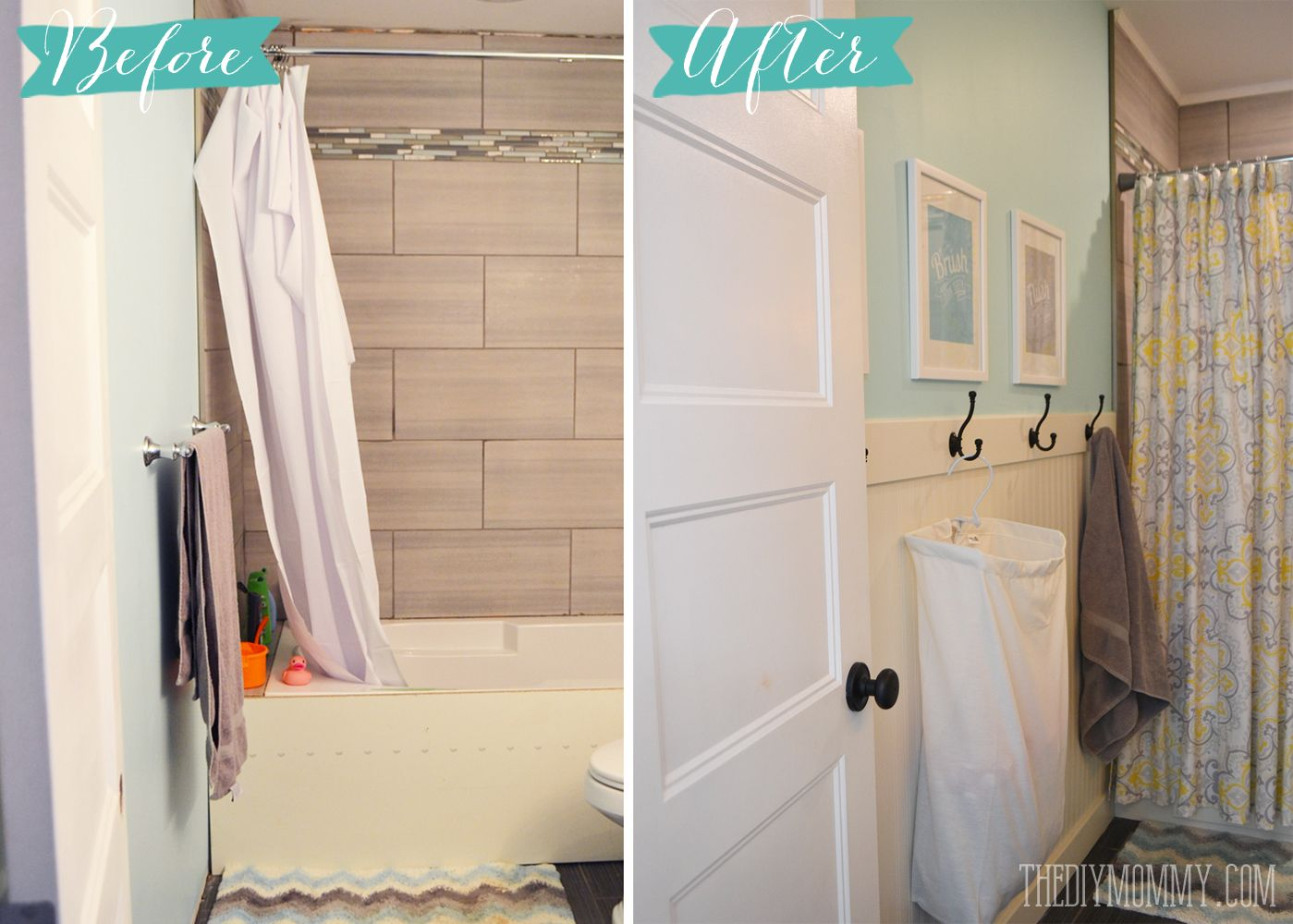 Beautiful How To Install An Easy DIY Beadboard Hook Wall In A Bathroom. Itu0027s Pretty  And