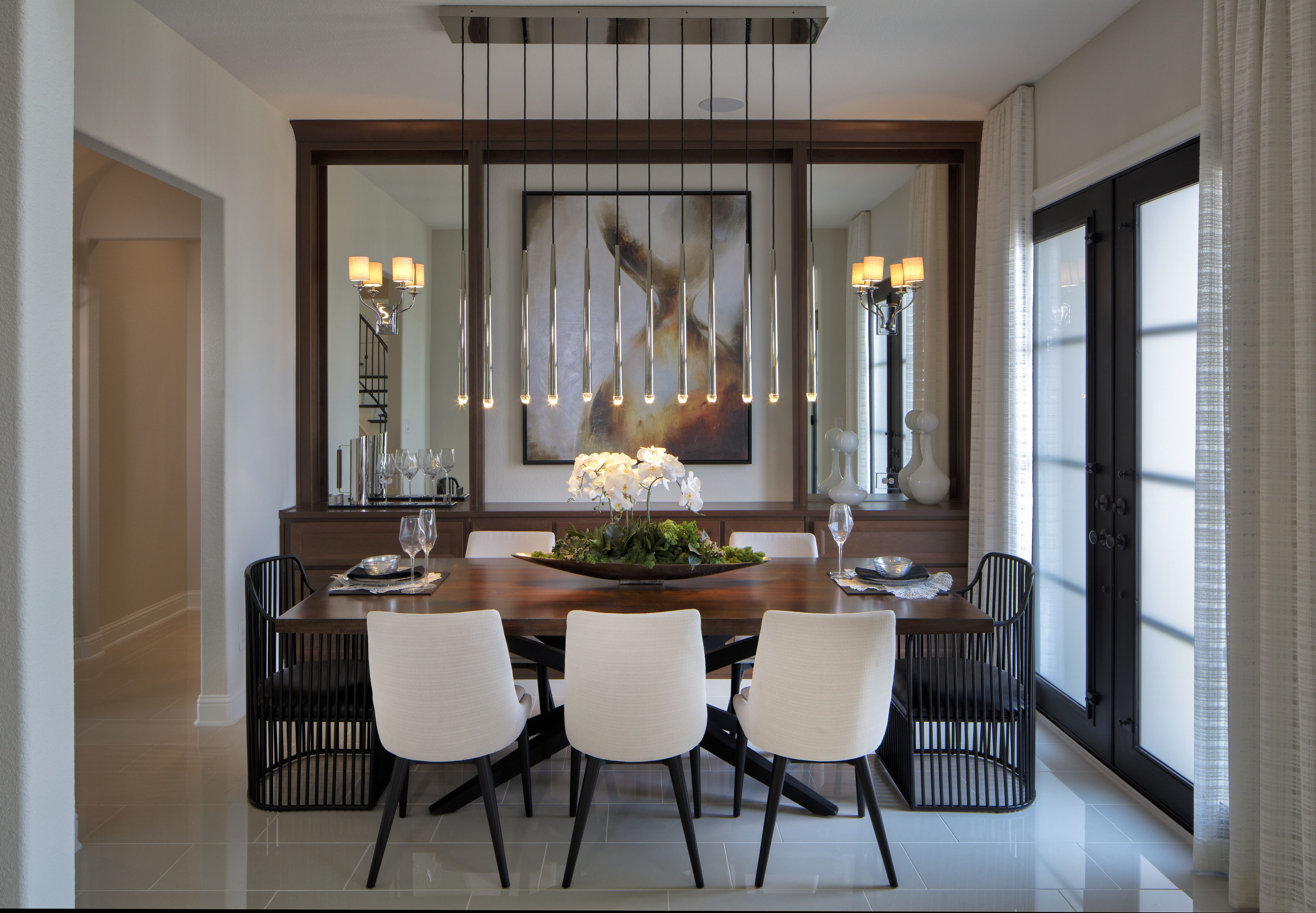 Set The Scene For A Luxurious Dinner Party. Draw Inspiration From Ryan  Young Interiors Transitional Design At Montgomery Farm Estates Bellwynn  Model Home ...