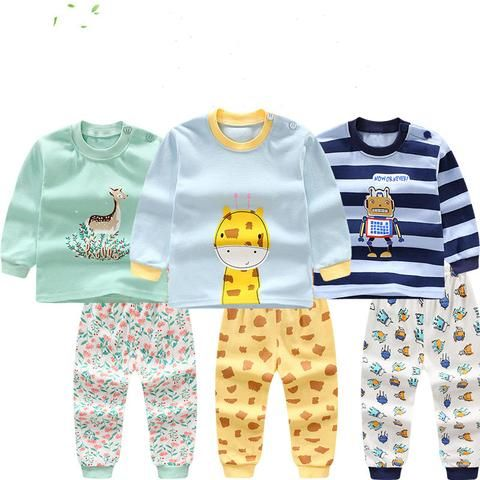 3429fd944 Fashion cartoon baby boys clothes sets Autumn and winter cotton long ...