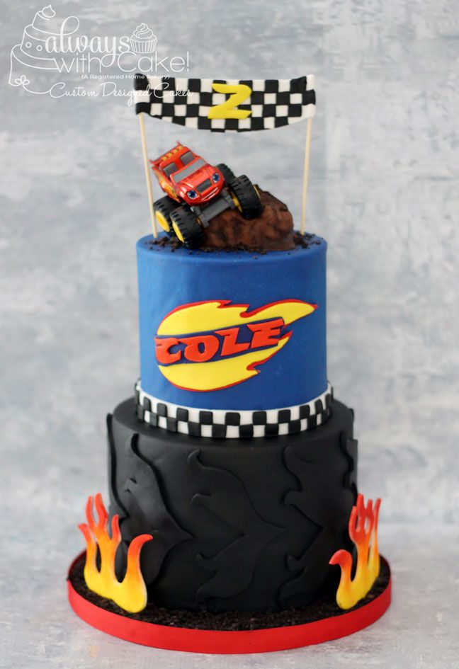 Blaze And The Monster Machines Cake Party Ideas Blaze