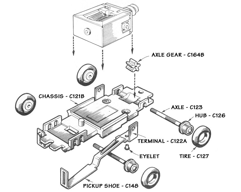 atlas ho scale slot car chassis schematic