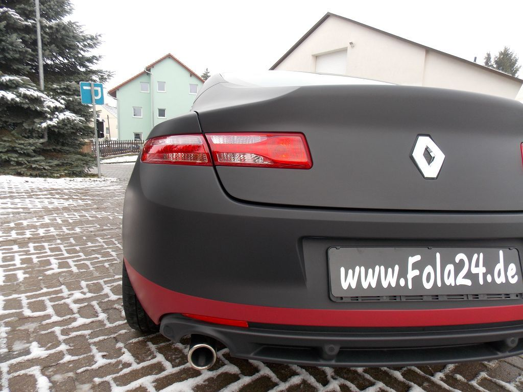 renault laguna schwarz matt foliert von car wrapping pinterest. Black Bedroom Furniture Sets. Home Design Ideas