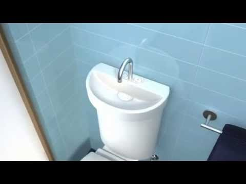 Awesome Caroma Profile Toilet With Integrated Hand Basin   YouTube