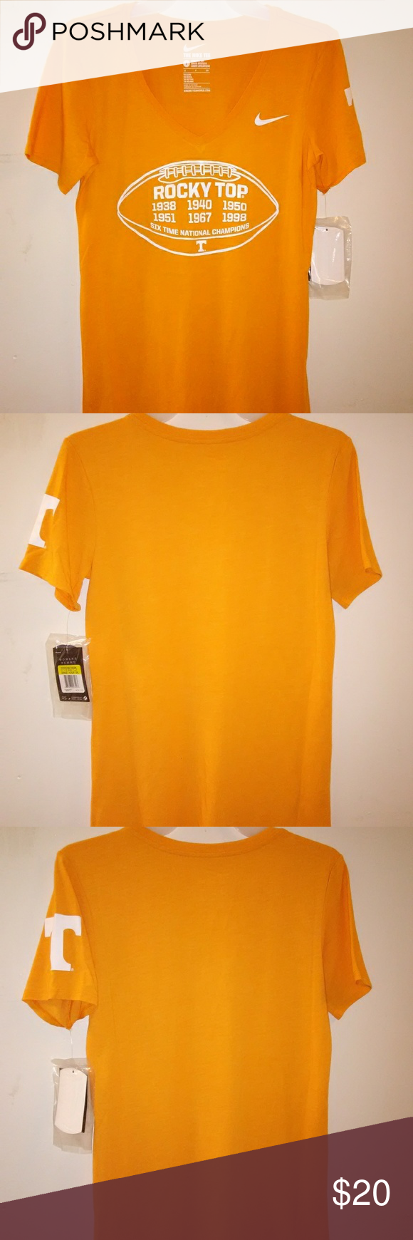 ec4ca153 Nike Rocky Top T-shirt Tennessee volunteers New with tags small tag hole in  collar. Nike Tops Tees - Short Sleeve