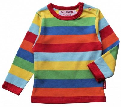 Long Sleeve Cotton Striped T-Shirt for Kids//Toddlers