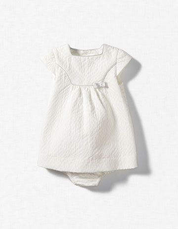So sweet.  PIQUÉ DRESS WITH BOW.  From Zara.
