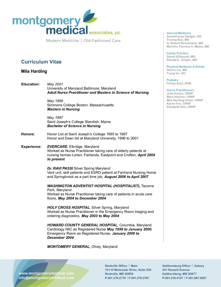 12 Curriculum Vitae Template For Nurse Practitioner Curriculum Vitae Template Curriculum Vitae Curriculum