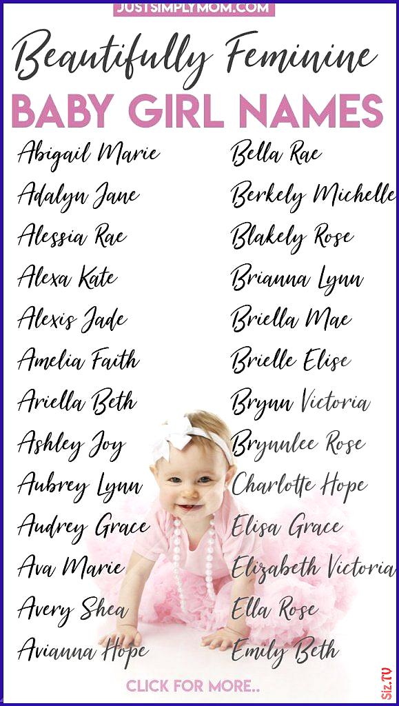 Baby Baby Names 2020 Femini Feminine Girl Middle Mom Names