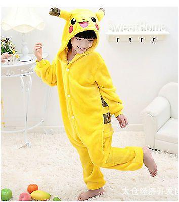 Child Pokemon Jumpsuit Pikachu Pyjamas Kigurumi Costume Charmander ...