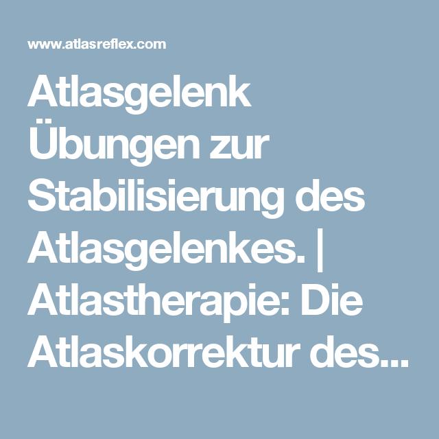 Atlasgelenk Übungen zur Stabilisierung des Atlasgelenkes ...