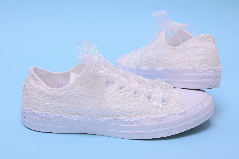 89424369d39d White Wedding Converse for bride