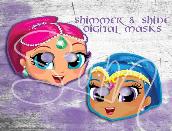 Free Coloring Pages Shimmer And Shine : W free thankyou card shimmer and shine masks for birthday party