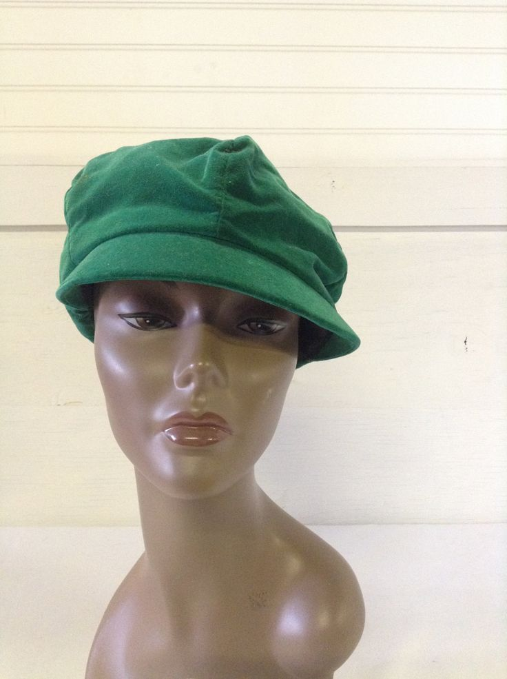 Vintage Women s Hats 1960 s Green Velvet Cap Tam Hat with Bom Bom by  ReEmporium on Etsy 5ed8780657a
