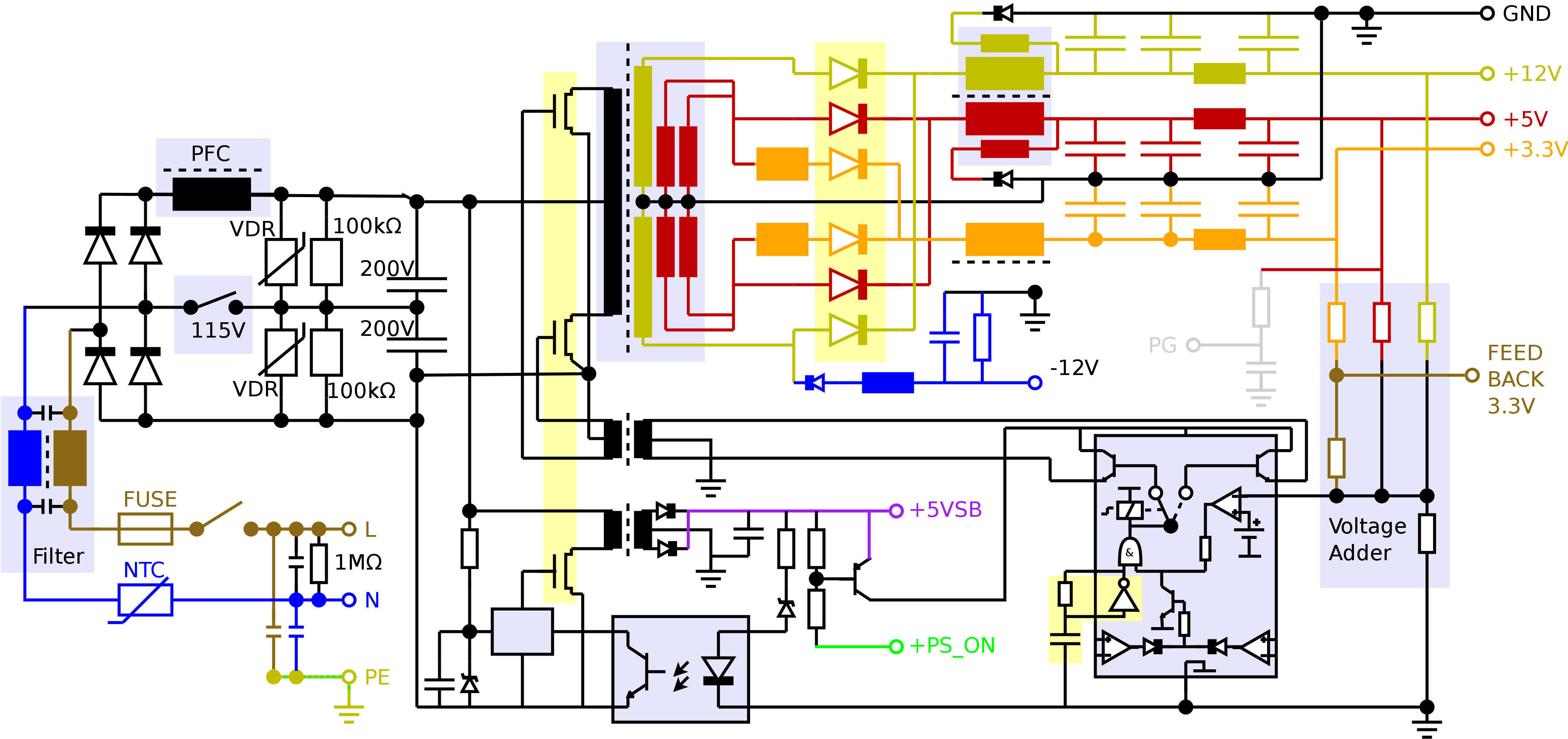 medium resolution of wiring diagram pc power supply for computer the adorable with atwiring diagram pc power supply for