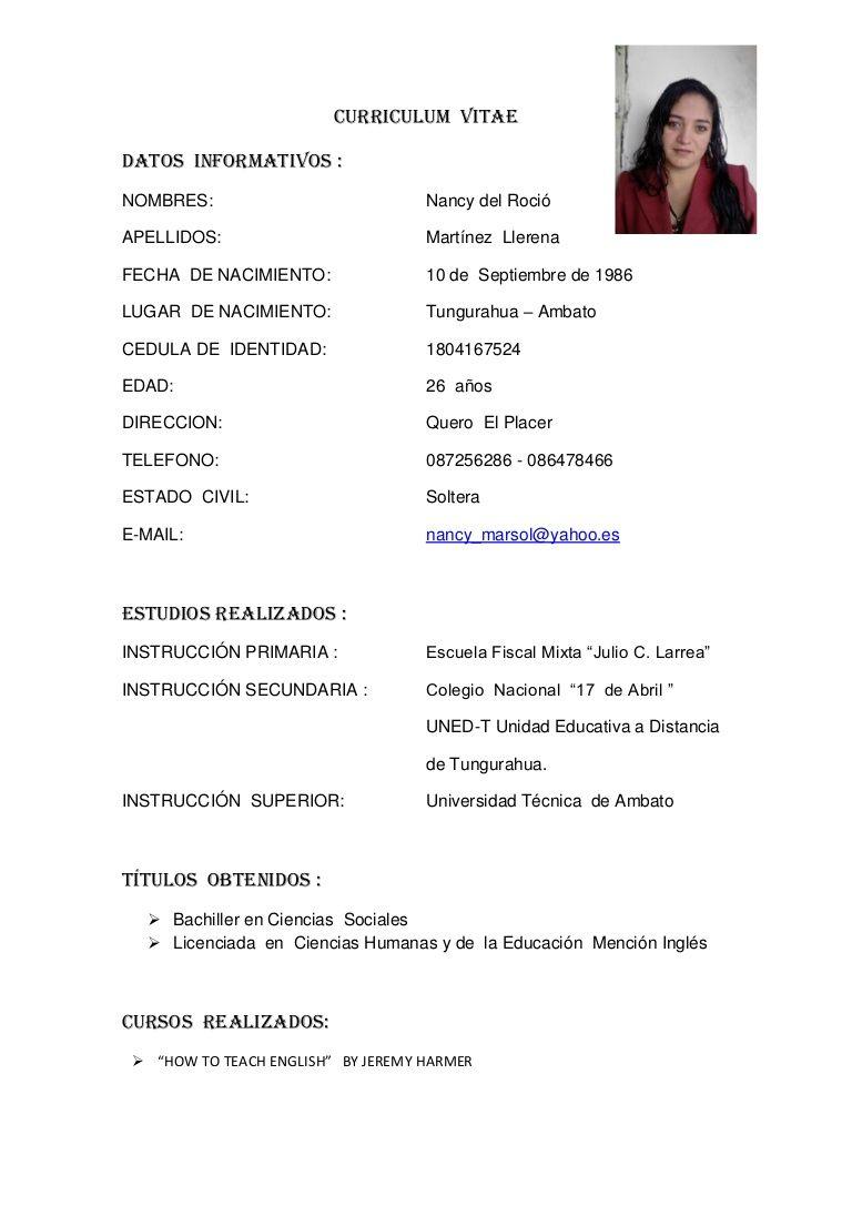 Que Es Curriculum Vitae Yahoo Modelo De Curriculum Vitae Modelos De Curriculum Vitae Curriculum Vitae Curriculum Ejemplo