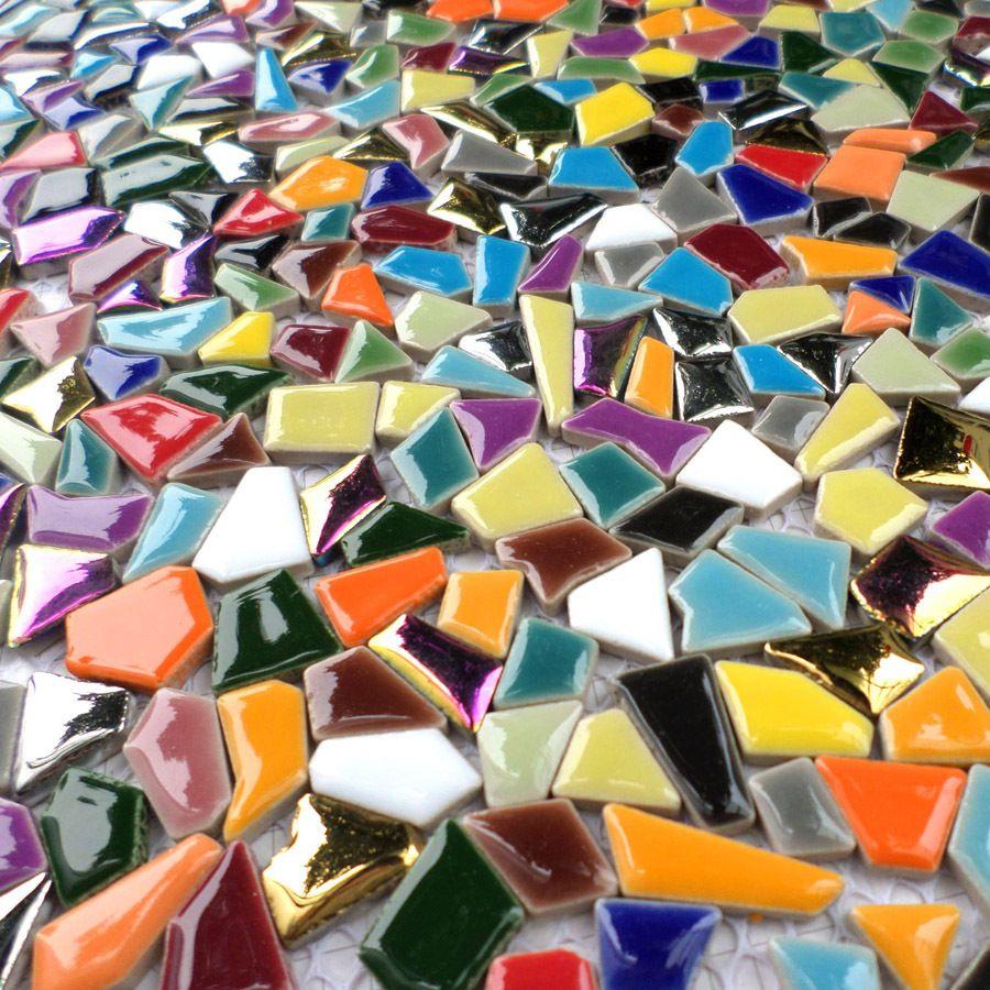 - Rainbow Colorful Ceramc Mosaic Irregular Shaped Seven Color For