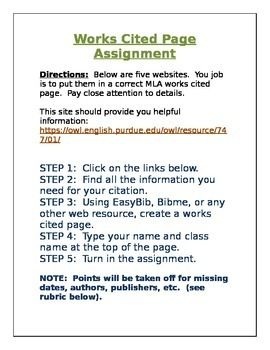 students must click the links in the assignment and create a correct