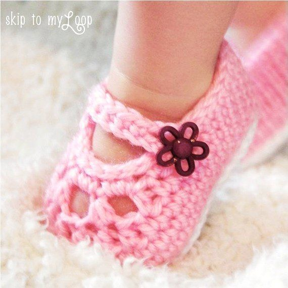 Free simple crochet mary jane booties | | baby | Pinterest | Zapatos ...