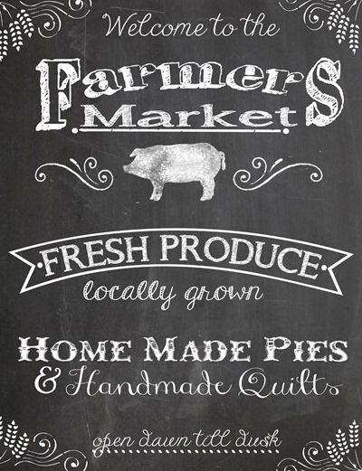 Blackboard Style Banner Farmers Market Craft Show