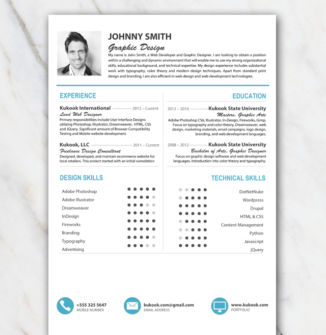 Free Resume Template For Word  Boyfriend Gift Ideas